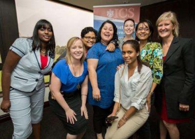 Happy students, Sponsor and ICS staff