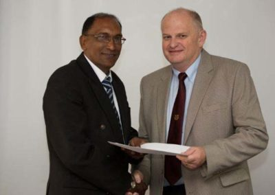 Mr Dawood with Bob King FICS, A-Cubed Consulting