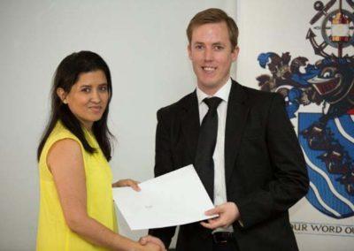 Tanya Henry, SL Winner with Sponsor Norton Rose Fulbright, Peter Lamb